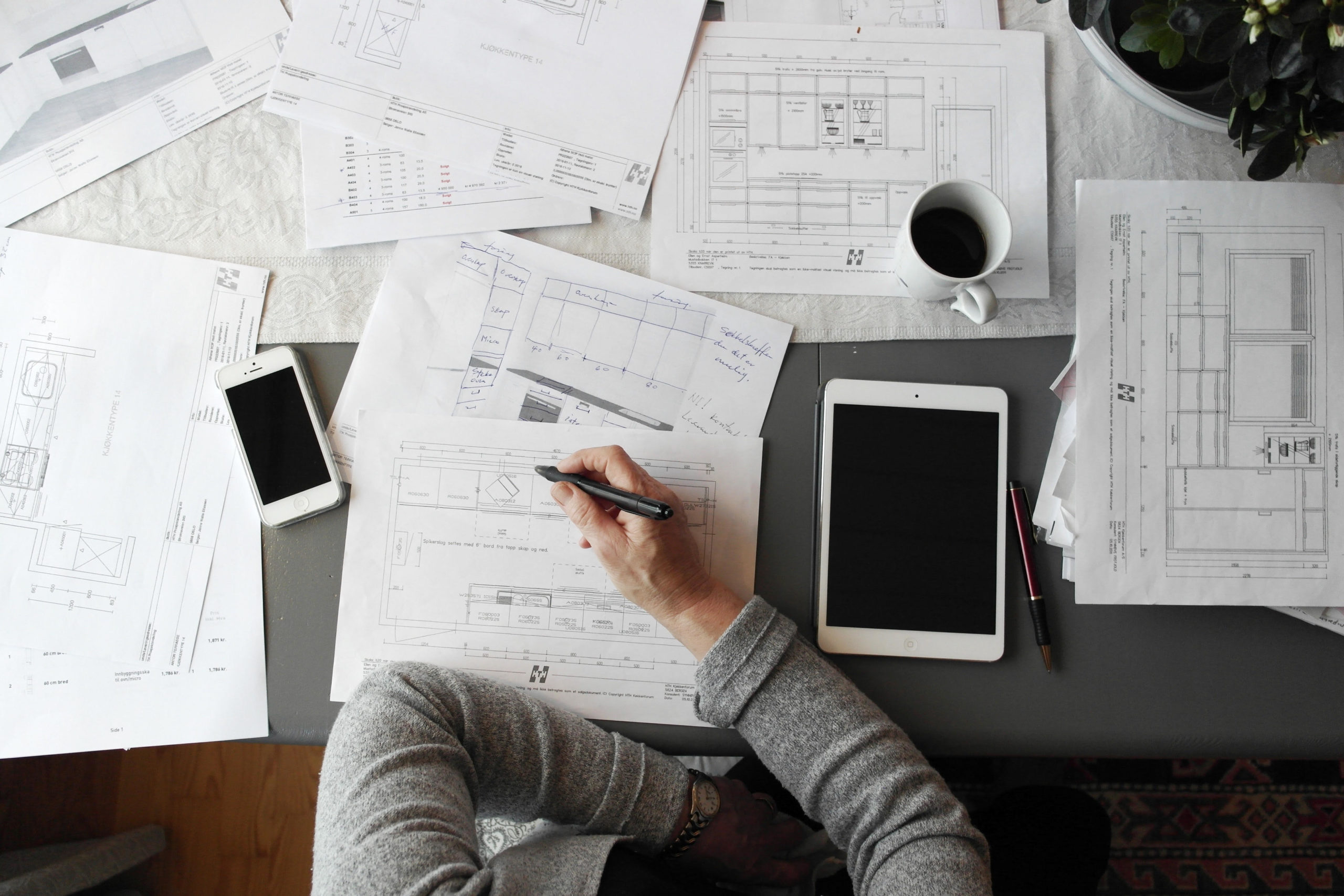 man working with papers